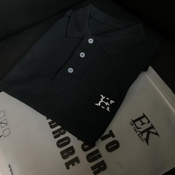 EK | Logo Polo Tee Black