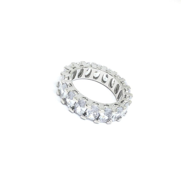 EK | Oval Cubic Ring Silver