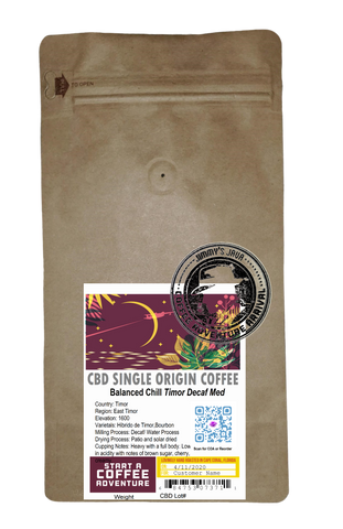 CBD Infused Decaf Timor SWP FTO Medium Roast