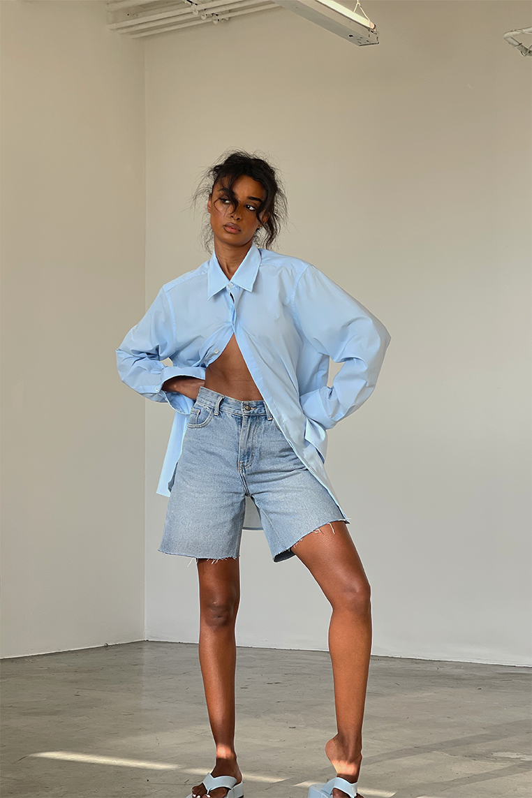 NURIA OVERSIZED BLOUSE - BLUE