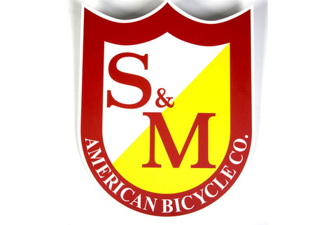 S&M Shield Sticker Large