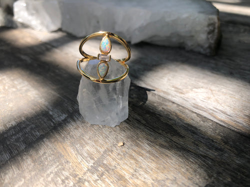 Opal Saddle Ring