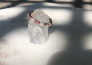 Opal Rose Gold Band
