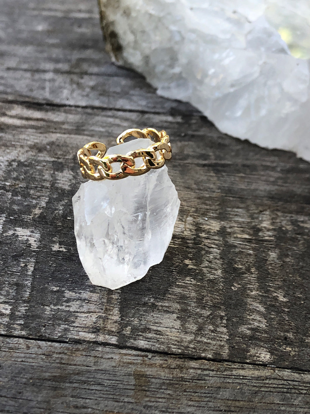 Gold Chain Midi Ring
