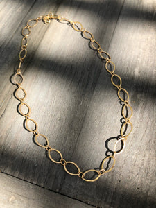 24k Gold fill loop choker, 14 inches adjustable