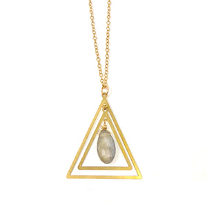 GEMSTONE TRIANGLE - LABRADORITE