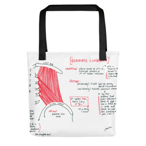 Quadratus Lumborum Tote bag