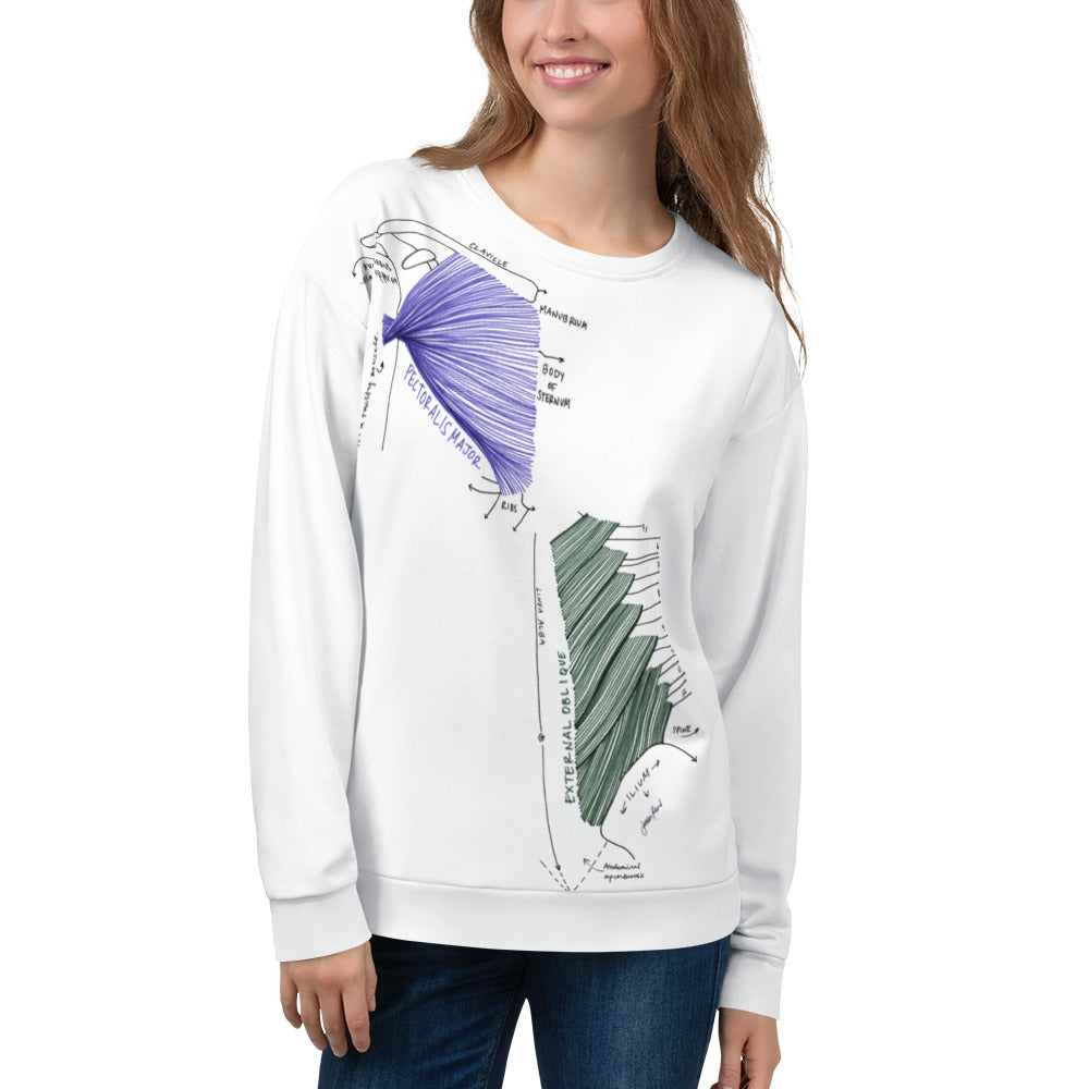All-Gender Upper Body Muscle Sweatshirt