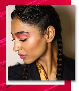 Red Cut Crease Block