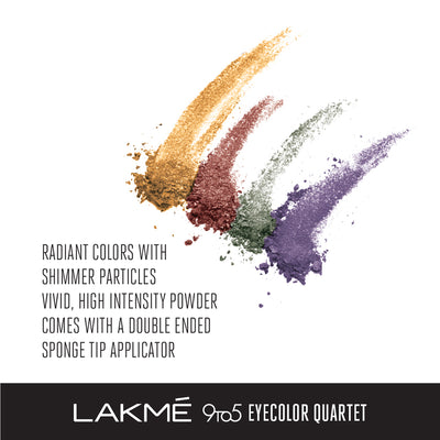Lakmé 9to5 Eye Color Quartet Eye Shadow - Tanjore Rush