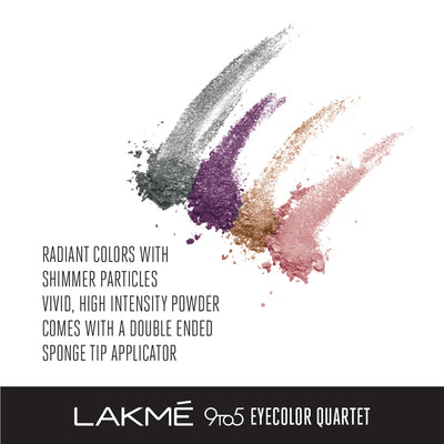 Lakmé 9to5 Eye Color Quartet Eye Shadow - Silk Route