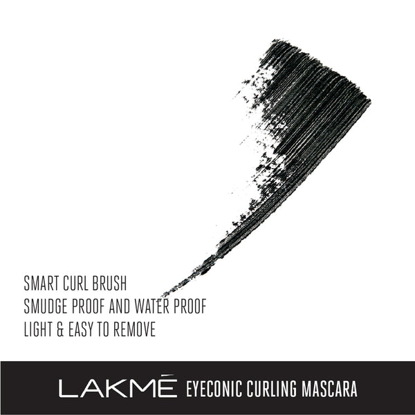 Lakmé  Eyeconic Curling Mascara, Black, 9 ml
