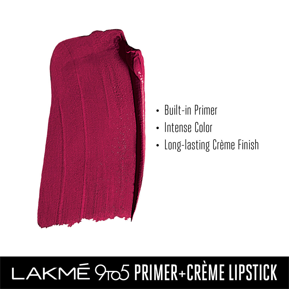 Lakmé 9 to 5 Primer + Crème Lip Color