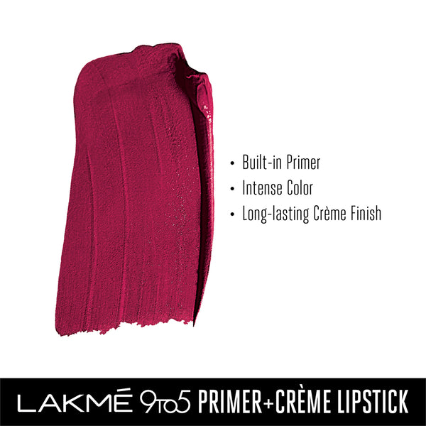 Lakme 9 to 5 Primer + Crème Lip Color