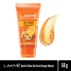 Lakmé Blush & Glow Orange Walnut Gentle Deep Clean Gel Scrub, 50g