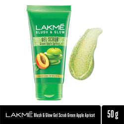 Lakmé Blush & Glow Green Apple Apricot Gentle Deep Clean Gel Scrub, 50g