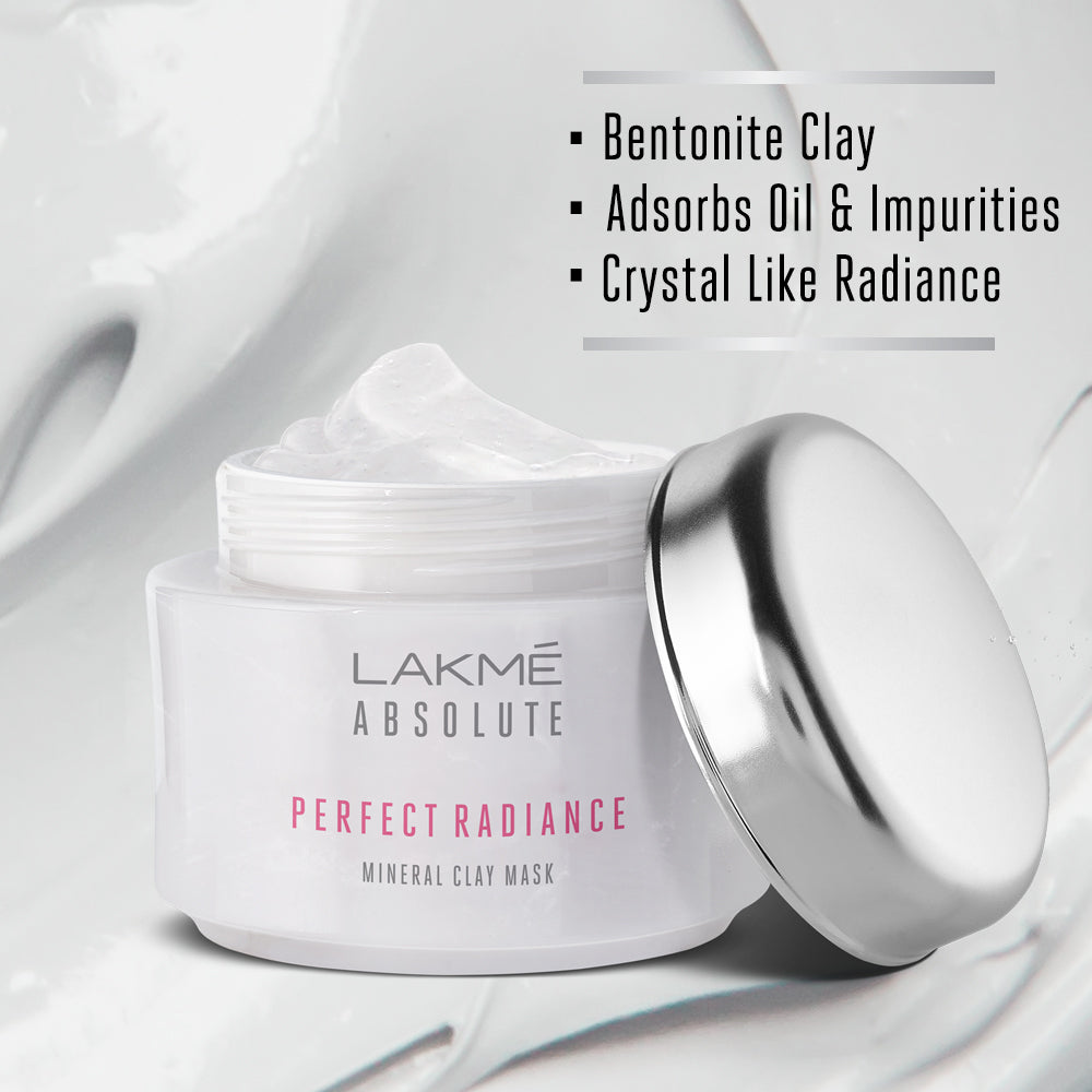 Lakmé Absolute Perfect Radiance Mineral Clay Mask, 50 g