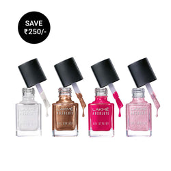 LAKME ABSOLUTE GEL STYLIST NAIL COLOR VALUE SET