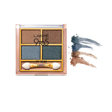 Lakmé 9to5 Eye Color Quartet Eye Shadow - Smokey Glam