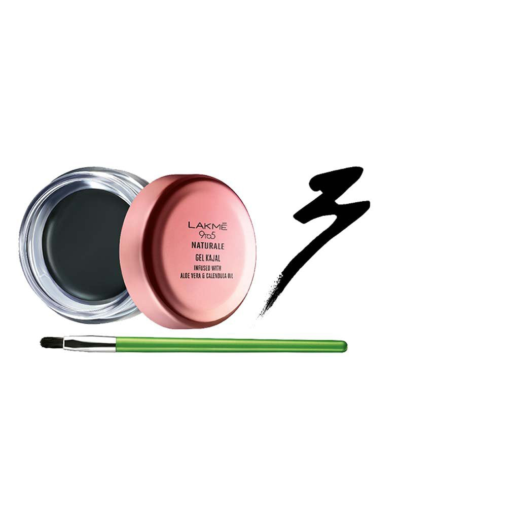 Lakmé 9to5 Naturale Gel Kajal - Black