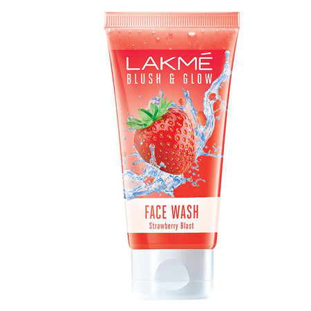 Lakmé Blush & Glow Strawberry Freshness Gel Face Wash with Strawberry Extracts, 50 g