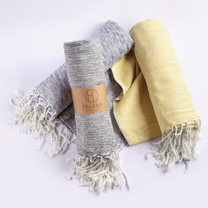 Yellow Ultra Soft Marbled Throw Blanket - SunCoastSea