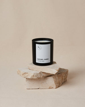 Leather Suede Coconut Blend Wax Candle - SunCoastSea