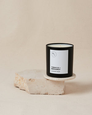 Tobacco + Bergamot Coconut Blend Wax Candle - SunCoastSea