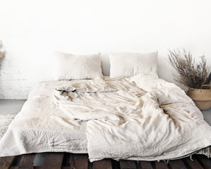 Natural light Linen Bedding Set - SunCoastSea