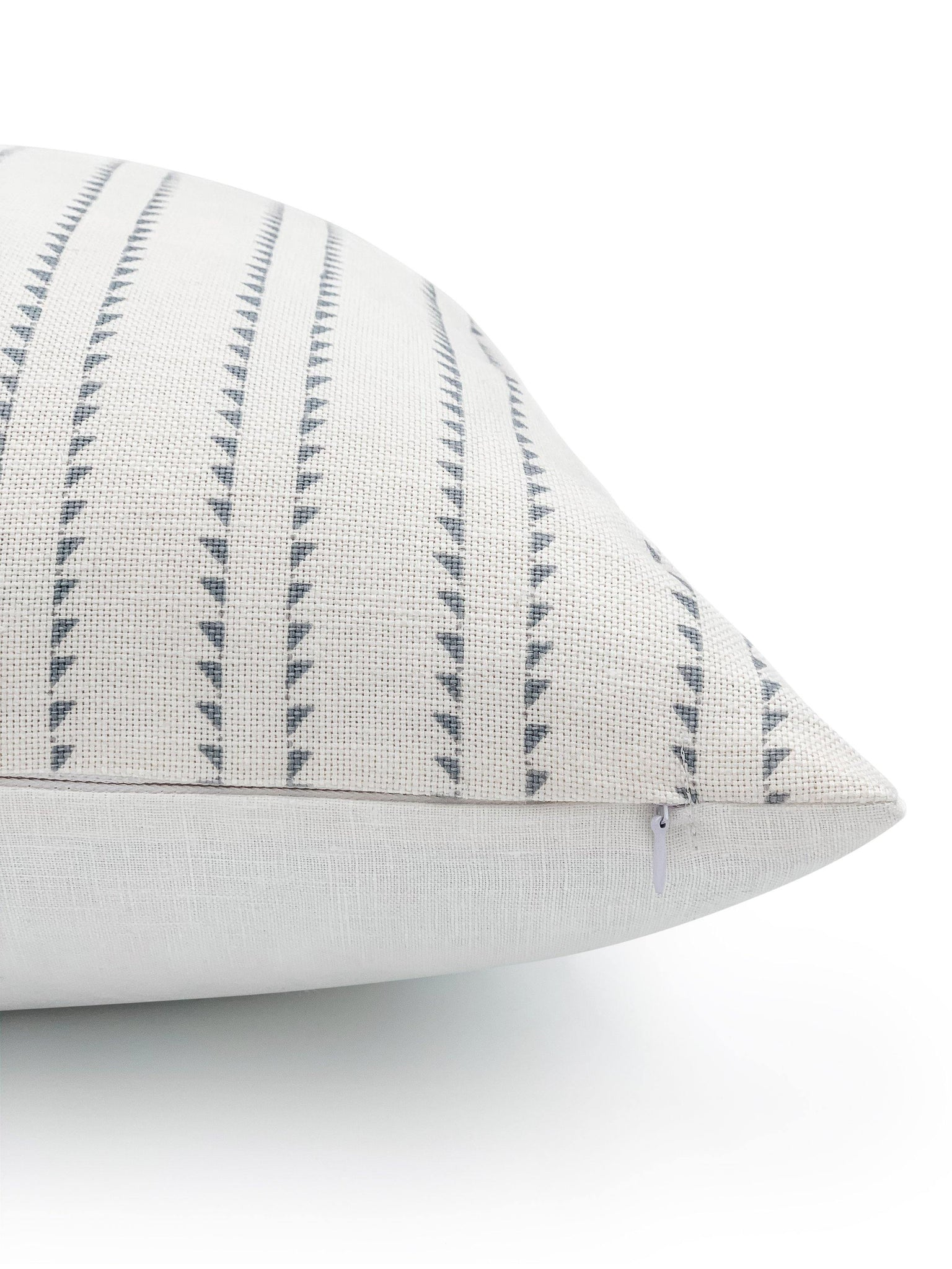 Rock Grey Stripes on White Lumbar - SunCoastSea