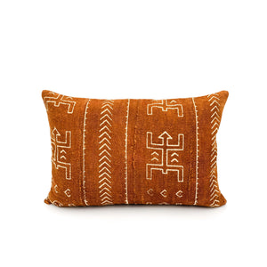 Mudcloth Rust Pillow Cover - SunCoastSea