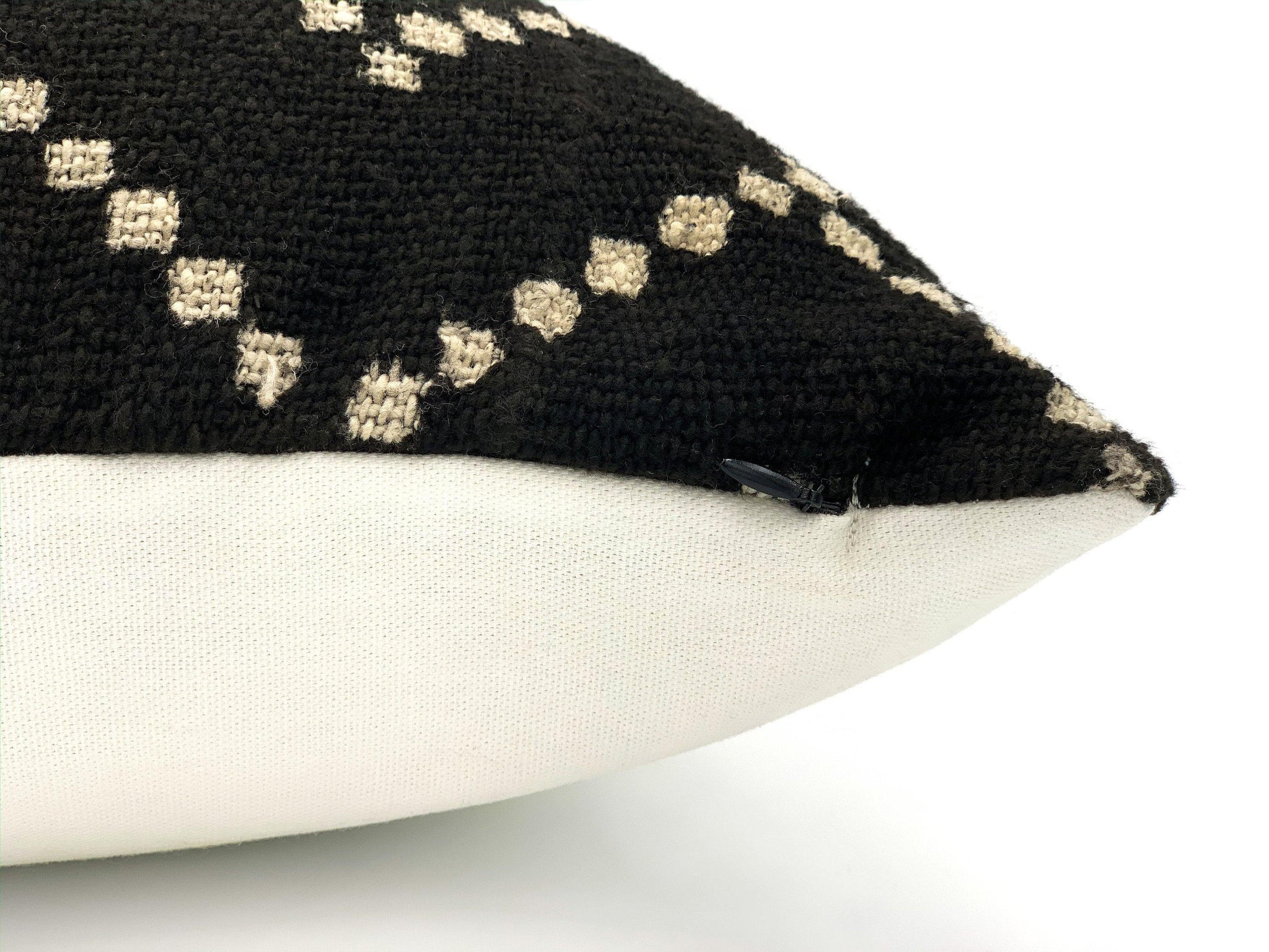 Mudcloth Black and Natural Pillow Cover - SunCoastSea