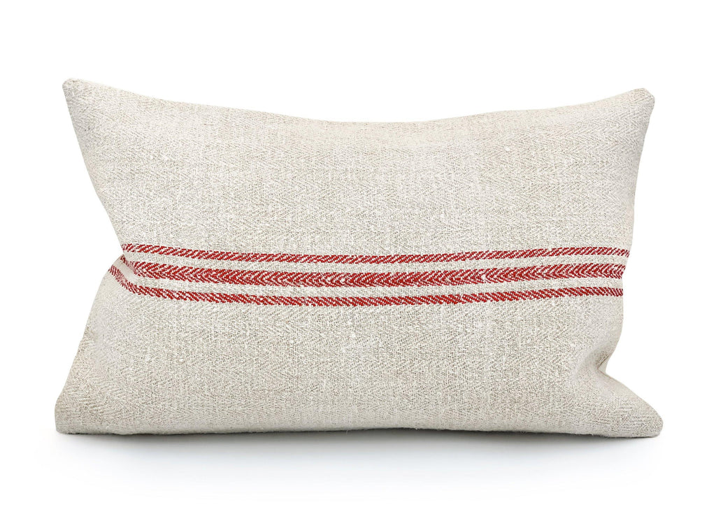 Three Red Stripes Pillow Cover - SunCoastSea