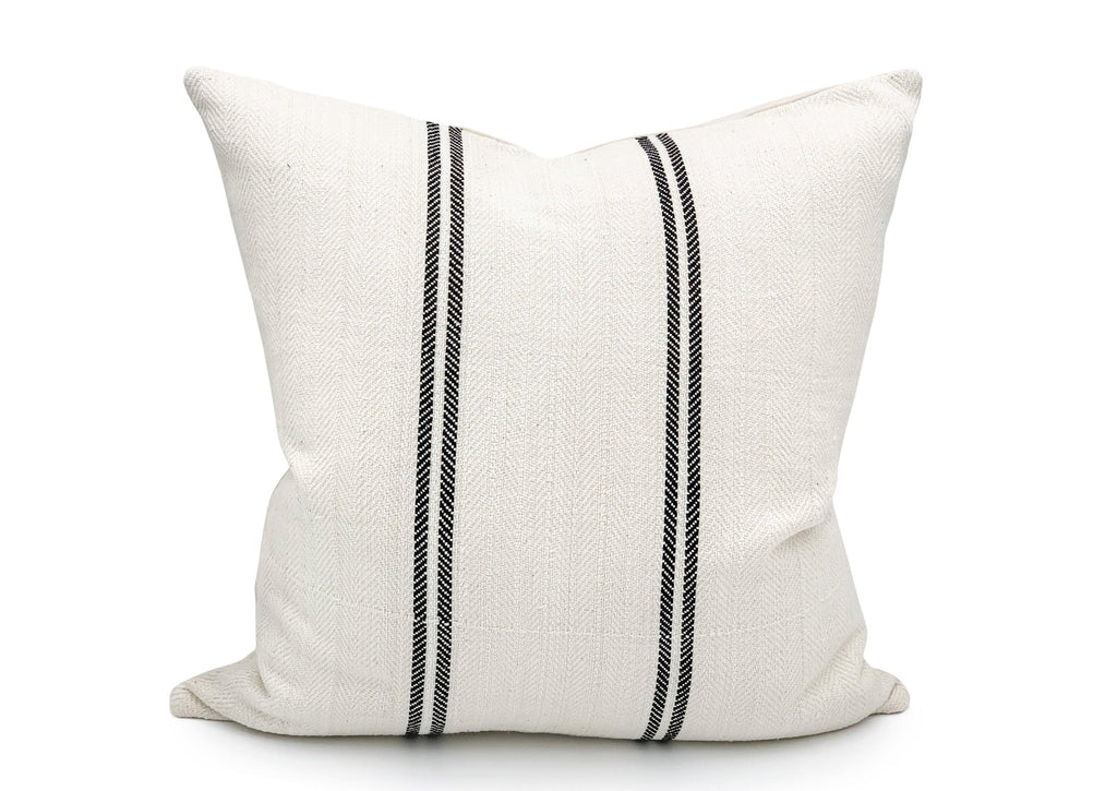 Vintage Black Stripes Pillow Cover - SunCoastSea