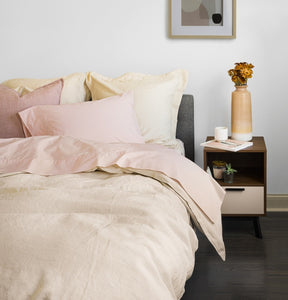 Relaxed Flax Linen Duvet Cover - SunCoastSea