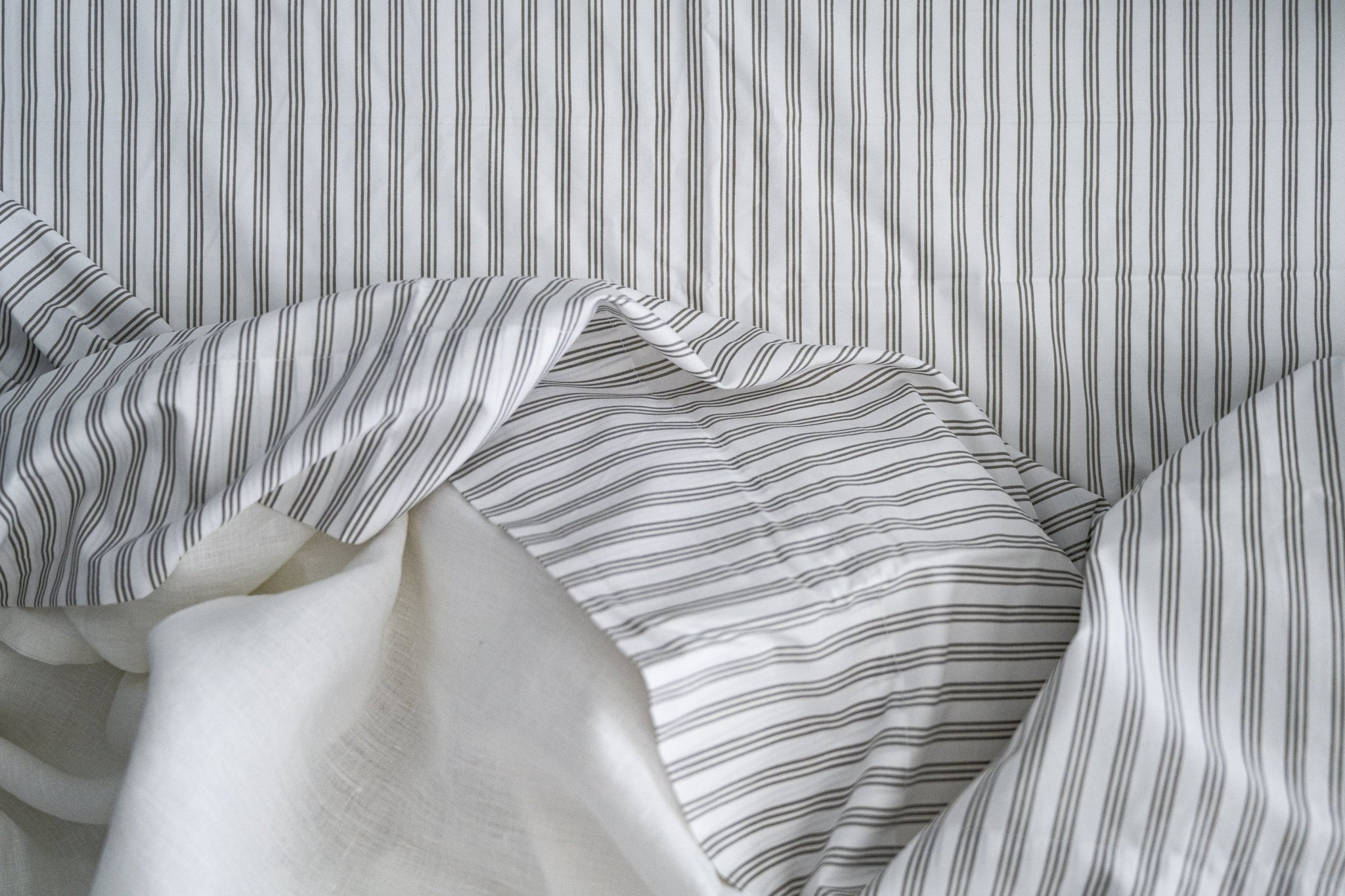 Supima Cotton Percale Stripe Duvet Set - SunCoastSea
