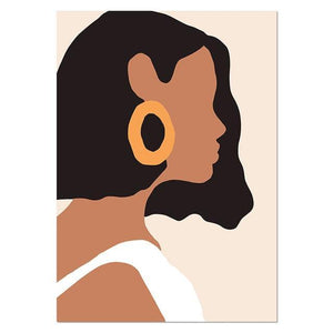 Abstract Vintage Girl Wall Prints - SunCoastSea