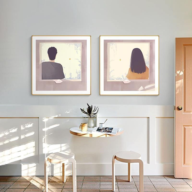Man and Woman Figure Painting Wall Prints