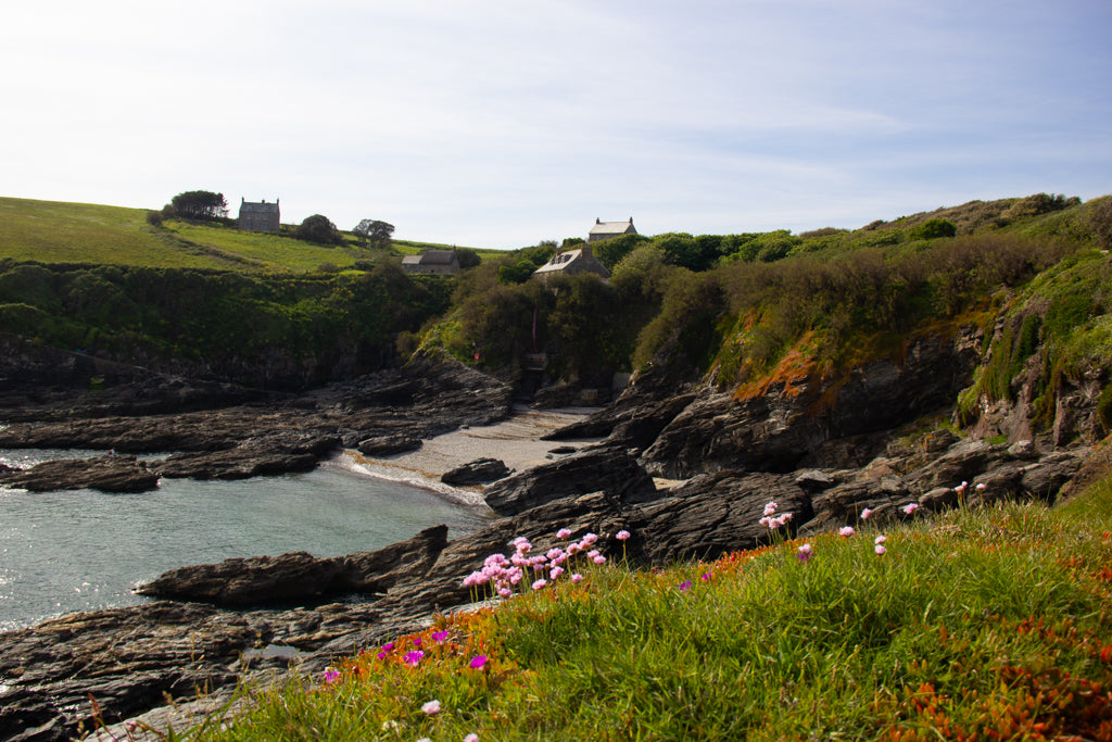 "alt=""prussia cove cornwall beaches weddings engagement rings wedding rings cornish jewellery"""