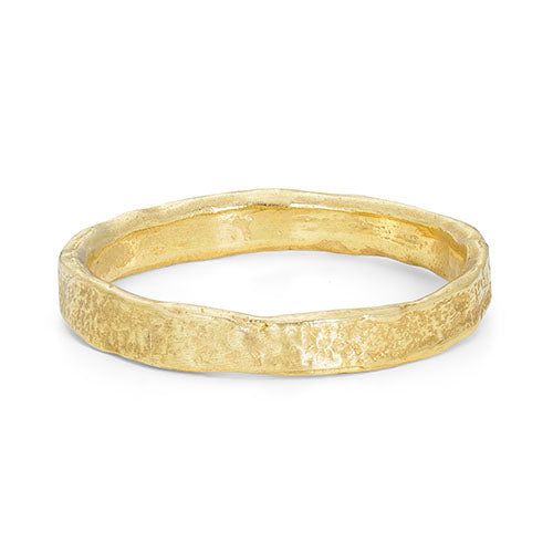 Rock Narrow Flat 18ct Gold