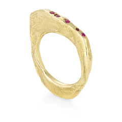 Peppered Ruby Strata Ring