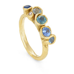 Meri Blue Spiralis Ring