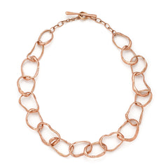 Stone Drawing Necklace 9ct Rose Gold