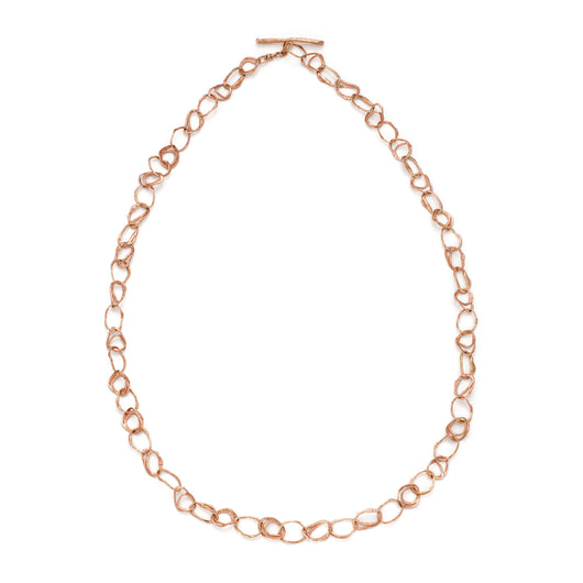 Pebble Drawing Necklace 9ct Rose Gold