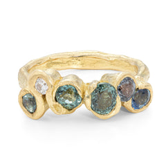 Ocean Blue Arame Ring