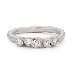 All White Porphyra Ring