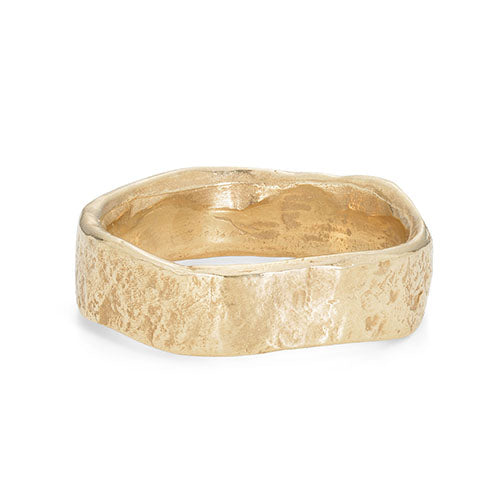 Rock Flat Wide 9ct Gold