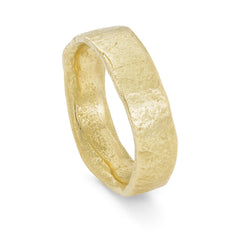 Rock Flat Wide 18ct Gold