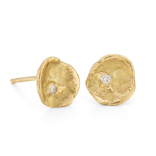 Ice Flake Studs 18ct Yellow