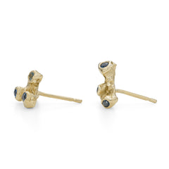 Ocean Samphire Studs 9ct Yellow